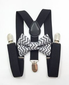 f8bdb690272 Black Suspenders + Gray and Silver Metallic Bow Tie Set pictures kids boys  adult photoshoot holidays