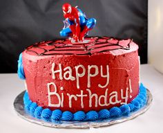 Spiderman birthday cake (that's not complicated)