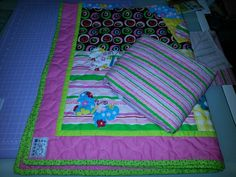 Spring Flowers & Butterflies Cot Sized Quilt & Fitted Sheet Set - $130 + P&H... To Purchase, email blue_buggs5@yahoo.com.au
