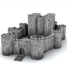 castle 3d obj - Castle collection by Medievalworlds from TurboSquid.com