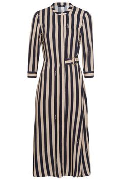 Riani Damen Maxikleid mit Streifen Beige/Schwarz   SAILERstyle Blazer, Shirt Dress, Tops, Shirts, Dresses, Fashion, Stripes, Fashion Women, Clothing