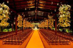 Decoração aérea para cerimônia de casamento