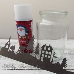 Shabby Art Boutique - How to make a Christmas Township Candle Jar