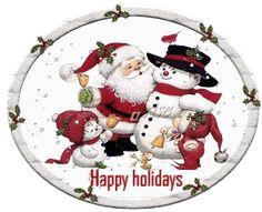 Christmas - Santa and snowpeople