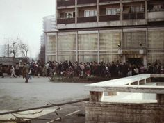 A line for the distribution of cooking oil in Bucharest, Romania in May 1986 Communism, Socialism, Warsaw Pact, Political Discussion, The Real World, Eastern Europe, 30 Years, Beautiful World, Street View