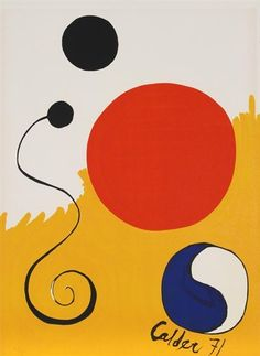 I love the work of Alexander Calder. It is colorful, geometric, and represents simplicity at its finest. He is actually the first artist I. Art Lessons, Art Students League, Kinetic Sculpture, Fine Art, Doodle Characters, Alexander Calder, Art, Life Art, Abstract