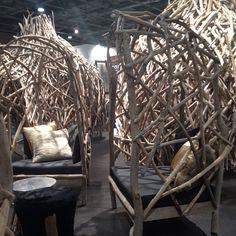 Driftwood chairs & igloo : campland meets island - @sibellacourt