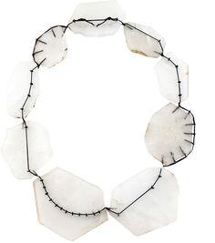 Deborah Rudolph – Bergsteigerkette – rock crystals (Bergkristall) Silver and kevlar string