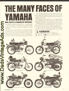 """1965 Vintage Motorcycle Advertisement – """"The Many Faces of Yamaha"""""""
