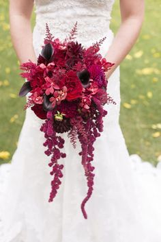 { Ask Cynthia }: Wedding Inspirations | Gothic Victorian Styled Wedding Shoot from Ruffled | Burgundy Bouquet