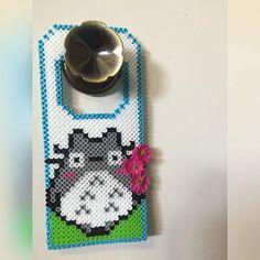 Totoro door hanger perler beads  by Kangaroochel
