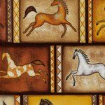 Earth tone horse silhouette panels
