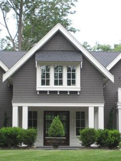 Exterior Paint Colors - You want a fresh new look for exterior of your home? Get inspired for your next exterior painting project with our color gallery. All About Best Home Exterior Paint Color Ideas Exterior Paint Colors For House, Paint Colors For Home, Exterior Colors, Exterior Design, Paint Colours, Grey Exterior, Interior And Exterior, Grey Siding, Modern Exterior