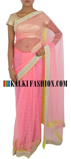 Black Net Saree, Peach Saree, Light Peach, Traditional Looks, Designer Sarees, Ethnic, Bollywood, Sari, India