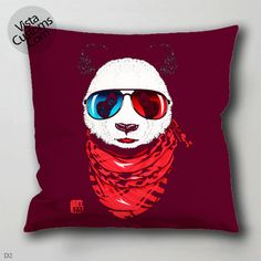 adventure panda pillow case, cover ( 1 or 2 Side Print With Size 16, 18, 20, 26, 30, 36 inch )