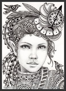 Fairy Tangles: A Couple of Steampunk Ladies- view & save as