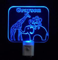 Night Light - Personalized LED Zoo Animal