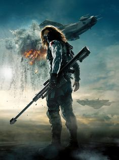 The Winter soldier Bucky Barnes poster