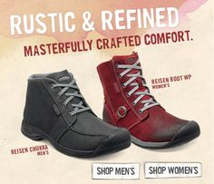 New KEEN Reisen collection. Our favorite Women's autumn boot. $170 (red one in grey)