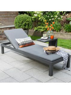 Buy KETTLER Elba Garden Cushioned Sun Lounger, Charcoal from our Garden Seating range at John Lewis & Partners. Furniture Care, Garden Furniture, Outdoor Furniture, Outdoor Decor, Outdoor Barbeque Area, Scandi Garden, Outdoor Spaces, Outdoor Living, Conservatory Furniture