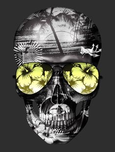 Hawaii-skull-surf