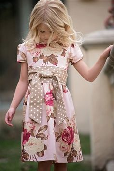 Persnickety Pretty in Pink Floral Emma Dress * Preorder*