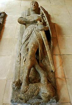 William Marshall was one of the greatest knights and magnates of medieval English History. He was buried in a Templar church, Temple Church in London, where his effigy can still be seen today.
