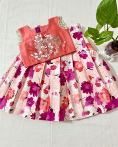 Kids Dress Wear, Kids Gown, Kids Wear, Kids Pattu Pavadai, Floral Skirt Outfits, Kids Fashion, Womens Fashion, Flower Girl Dresses, Baby Dresses