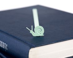 Bookmark mint color. Snail, nature series. Trendy, stylish and functional. Unique.  Show that you care about the book accessories you use.