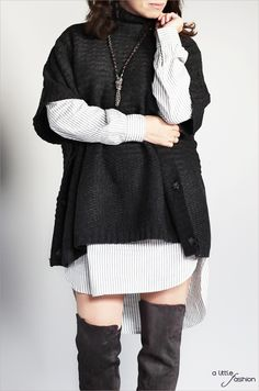 Cozy Layers  - Monochromer Lagenlook  | A Little Fashion | http://www.a-little-fashion.com/fashion/cozy-layering-monochromer-lagenlook #fashion #inspiration #trend #fall #winter #summer #spring #pantone #frühjahr #sommer #herbst #style #outfit #ootd #filizity