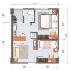400 Sq Ft Trump Hotel Suite Layout In That Would Work For A Studio Apt Studio Apartment