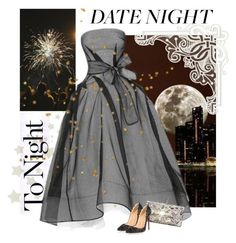 """night out"" by bodangela ❤ liked on Polyvore featuring Maticevski and Christian Louboutin"