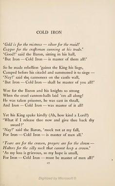 Myšlenky Na Klasické Styly Skutečný Obchod Cold Iron Kipling