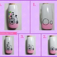 No hay descripción de la foto disponible. Nail Art Hacks, Gel Nail Art, Nail Art Diy, Nail Manicure, Love Nails, My Nails, Nail Drawing, Animal Nail Art, Nail Art Techniques