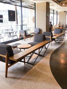 Coffee Shop Interior Design, Interior Design Minimalist, Beautiful Interior Design, Restaurant Interior Design, Commercial Interior Design, Office Interior Design, Cafe Design, Interior Design Inspiration, Design Ideas