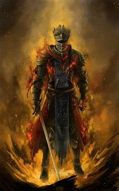 Dark Souls 3 Fanart - Red Knight by Brennan Liu on ArtStation. Dark Souls 2, Arte Dark Souls, Dark Souls Armor, Dark Souls 3 Knight, Illustration Fantasy, Character Illustration, Soul Game, Red Knight, Cg Artwork