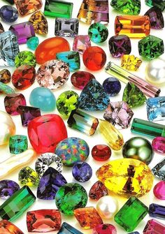 colorful gemstones courtesy of Mother Nature