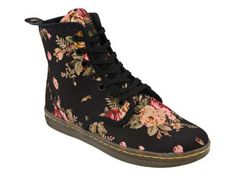 Best For Flower Girls  Dr. Martens Shoreditch Boots in Black Floral,   $75; planetshoes.com