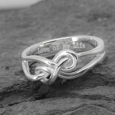 A personal favorite from my Etsy shop https://www.etsy.com/ca/listing/273199140/infinity-ring-heart-ring-knot-sterling