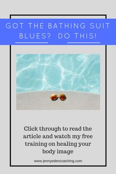 I know too many women who won't even go to a public pool or beach because of feel of exposing themselves in a bathing suit. Learn how to lovingly stop...