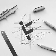 Here you can find logo sketches that will help you implement your ideas. Corporate Design, Branding Design, Id Card Design, Design Design, Type Logo, Logo Sketches, Logo Desing, Typographic Logo, Art Graphique