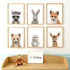 Az erdő állatai babaszoba falikép szett Animal Nursery, Nursery Art, Blue Sky Background, Animal Posters, Animal Decor, Baby Room Decor, Woodland Animals, Animal Design, Photo Illustration
