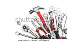 Many Tools On White Background Stockfotonummer: 178524686 : Shutterstock
