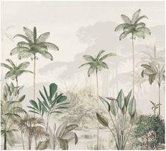 Jungle Wallpaper - TROPICAL WILDERNESS - beige/green