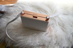 Zara white box bag with rose gold details - $49.90 USD