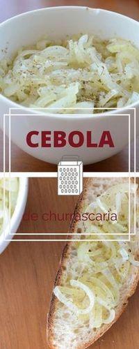 Receita de molho de cebola como o couvert famoso de churrascaria