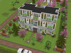 Sims 4 House Building, Sims House Plans, Sims Freeplay Houses, Sims 4 Houses, Sims House Design, Sims Free Play, Apartment Floor Plans, My Sims, Big Butt
