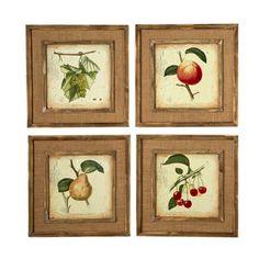 Sage & Co. French Market Fruit 4 Piece Framed Graphic Art