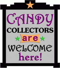 Silhouette Design Store - View Design #67421: candy collectors welcome here sign