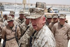 James Mattis, the commander of U. Marine Corps Forces Central Command, speaks to Marines with Marine Wing Support Group May Military Quotes, Military Humor, Military Life, Usmc Quotes, Marine Corps Memes, General James Mattis, Marine General, Flak Jacket, Marine Mom